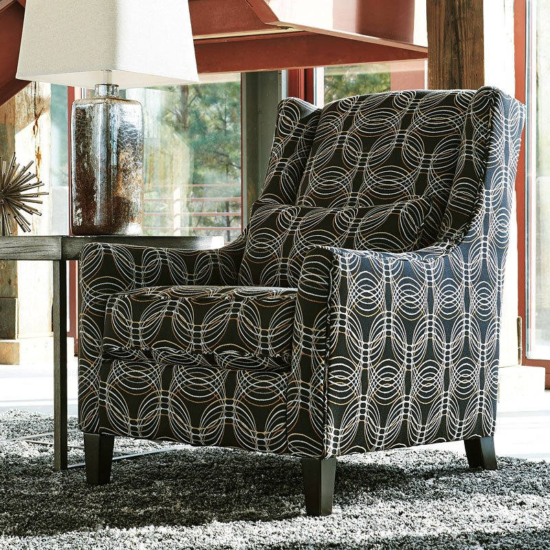 faraday metallic accent chair living room furniture living