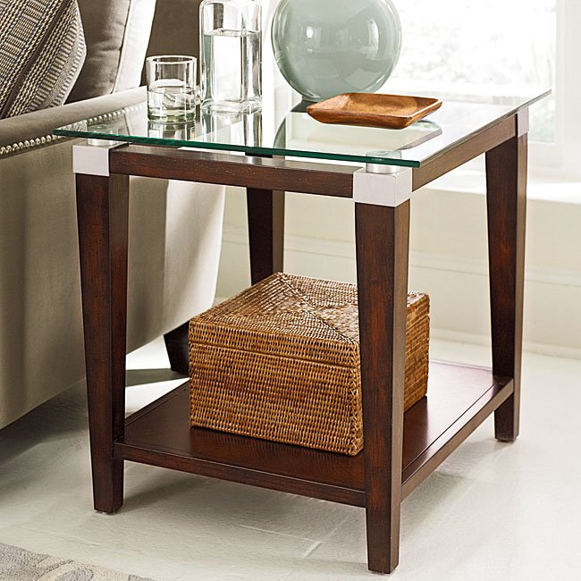 Solitaire Rectangular End Table By Hammary Furniturepick