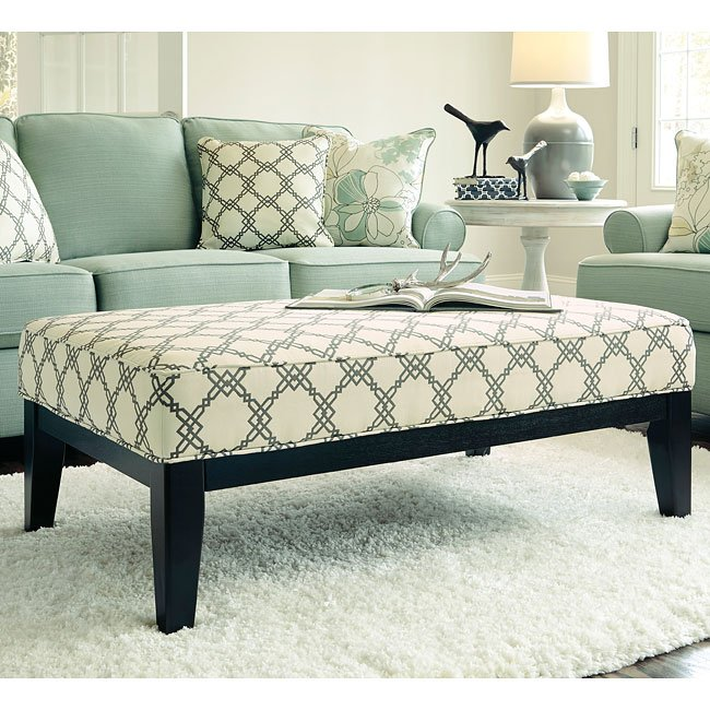 Daystar Seafoam Oversized Accent Ottoman By Signature