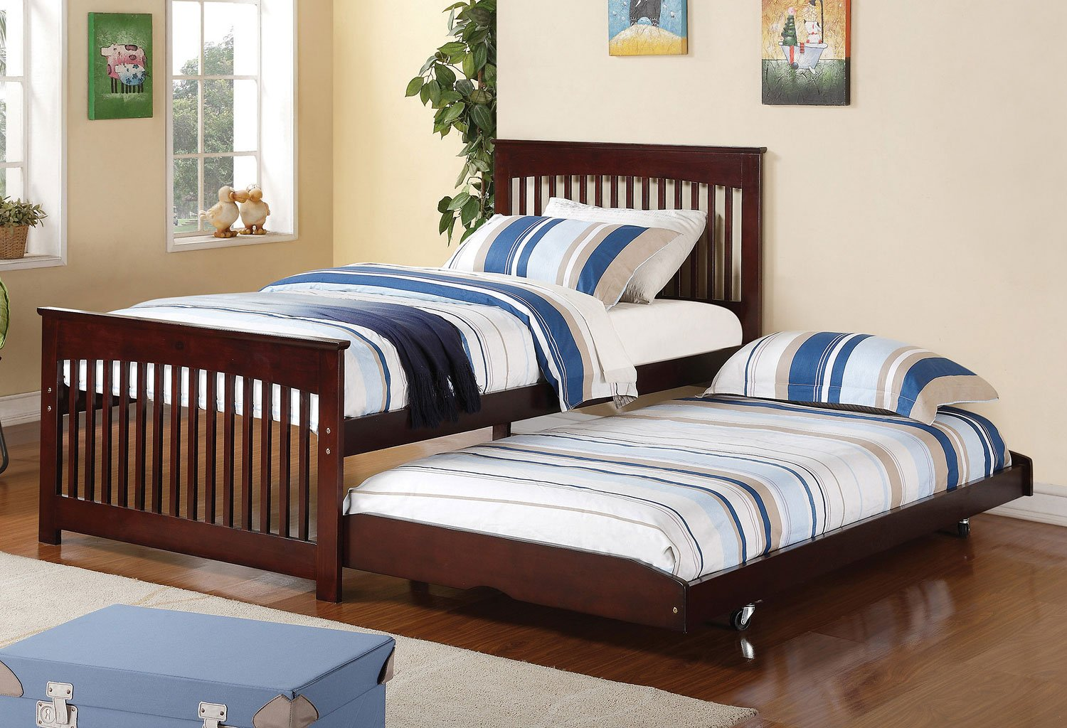 Salinas Twin Bed W Pop Up Trundle By Coaster Furniture