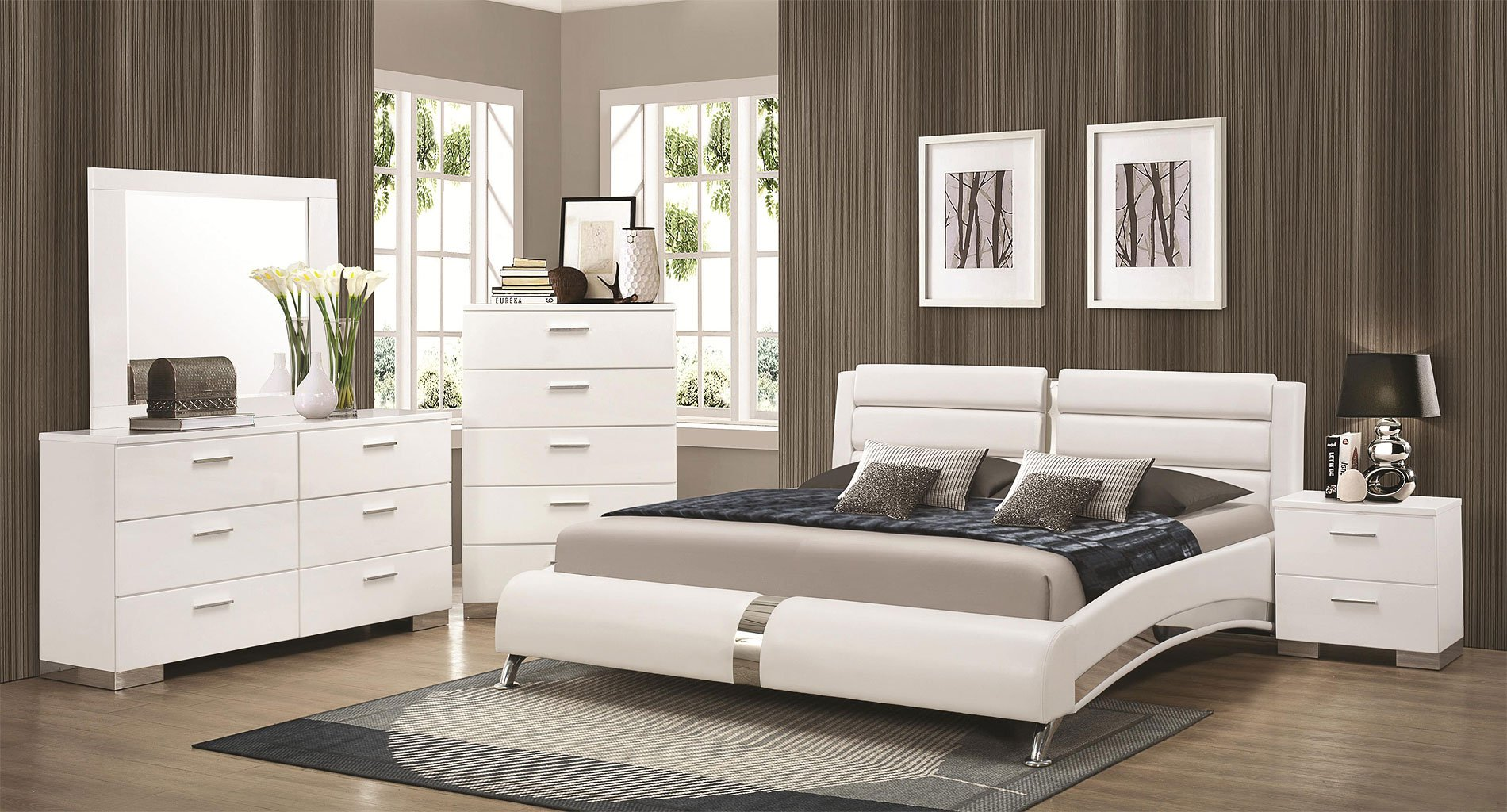 Felicity Bedroom Set w Jeremaine Bed White Bedroom  : 300345Q br set 1 from www.furniturepick.com size 1900 x 1024 jpeg 359kB