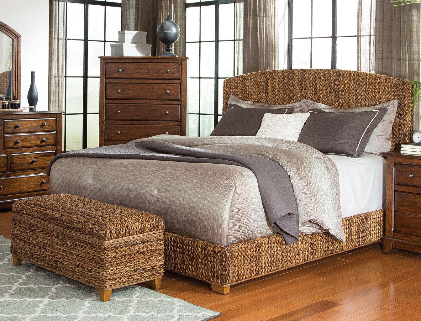 Laughton upholstered bedroom set natural brown by coaster furniture 1 reviews furniturepick for Coaster bedroom furniture reviews