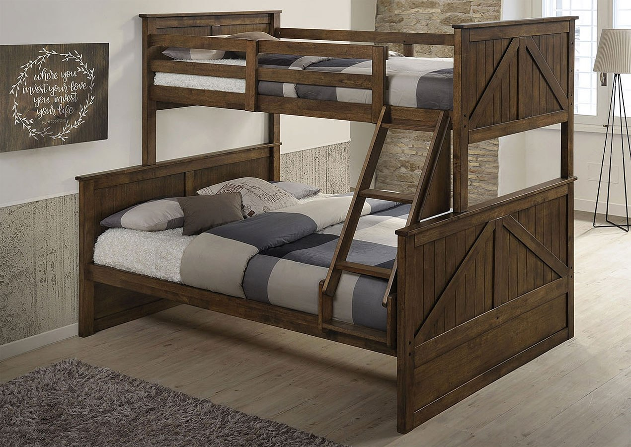 Ashland Twin Over Full Bunk Bed Rustic Oak By Lane