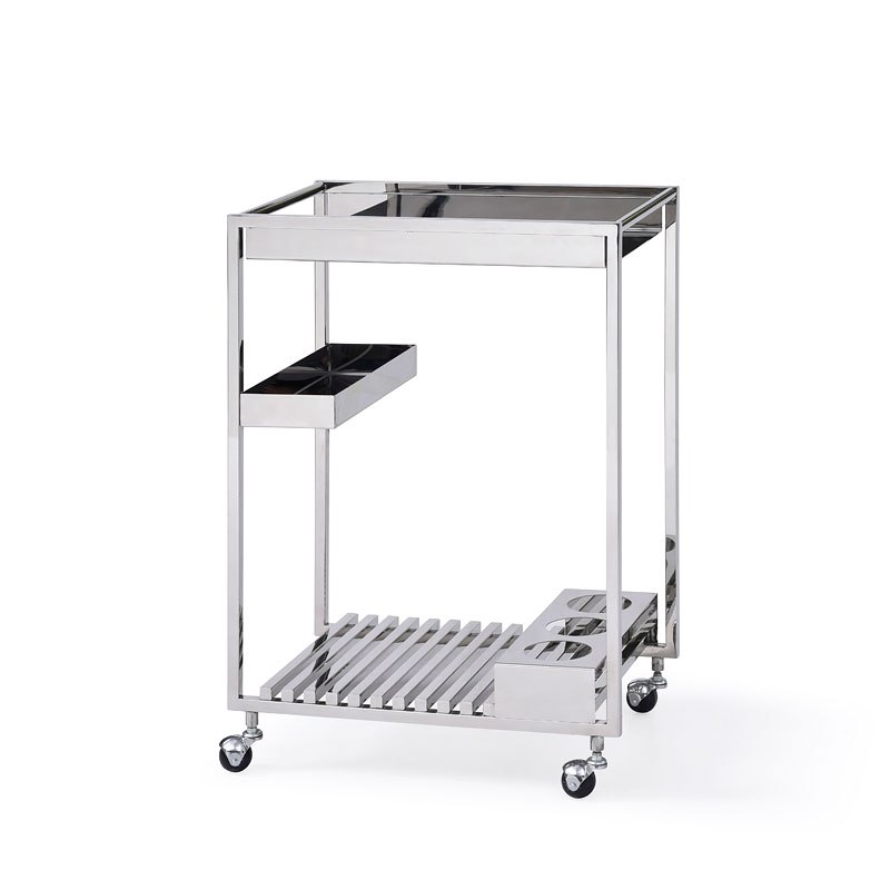 Contemporary All Metal Tea Cart