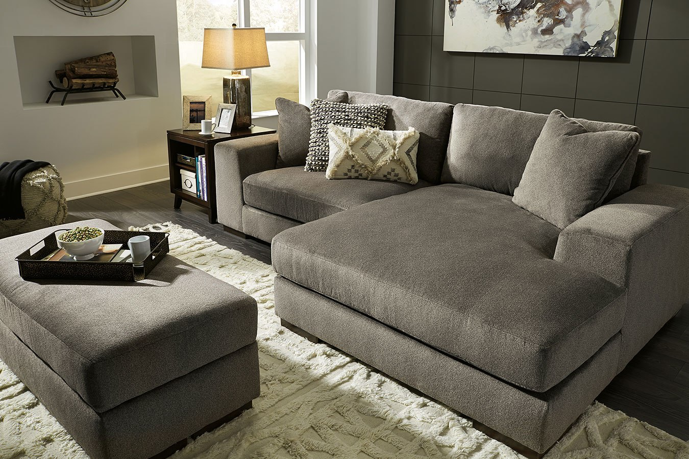 Manzani Graphite Sectional Living Room Set by Signature Design by ...