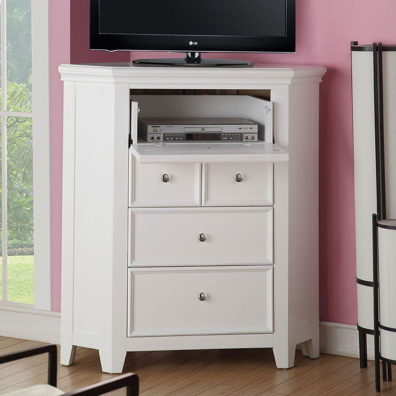 Lacey corner tv console white kids tv stands and for Tv stand kids room