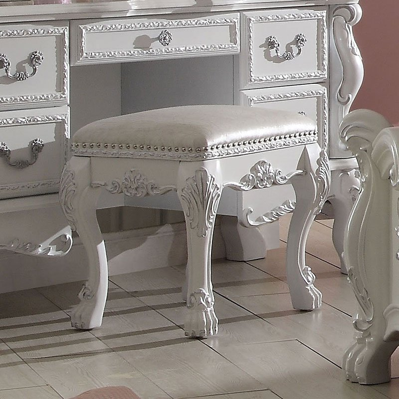 Awe Inspiring Dresden Youth Vanity Stool Antique White Alphanode Cool Chair Designs And Ideas Alphanodeonline