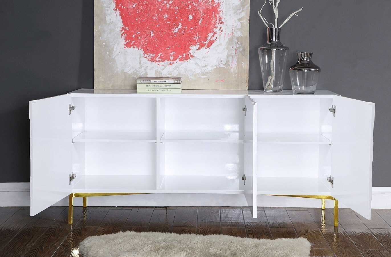 Collette Sideboard/ Buffet (White/ Gold) By Meridian