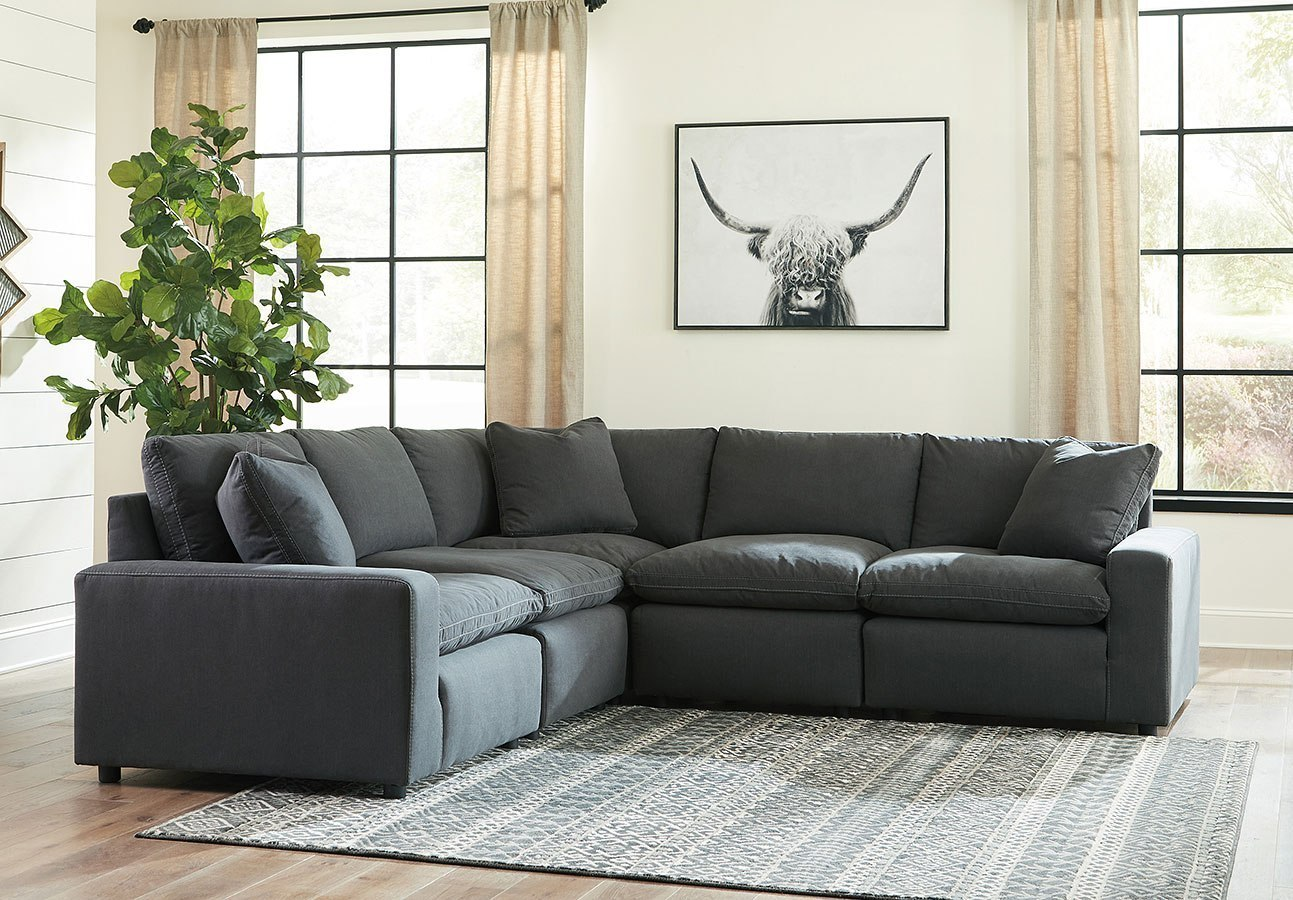 Savesto Charcoal Modular Sectional By Signature Design By