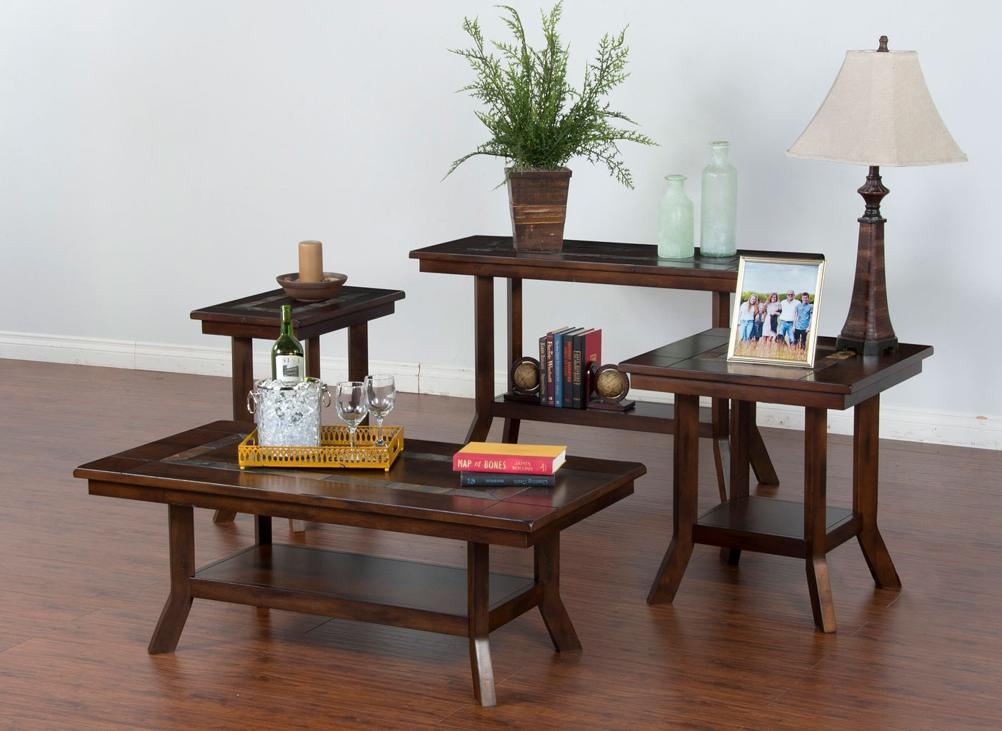 Santa Fe Flared Leg Occasional Table Set By Sunny Designs