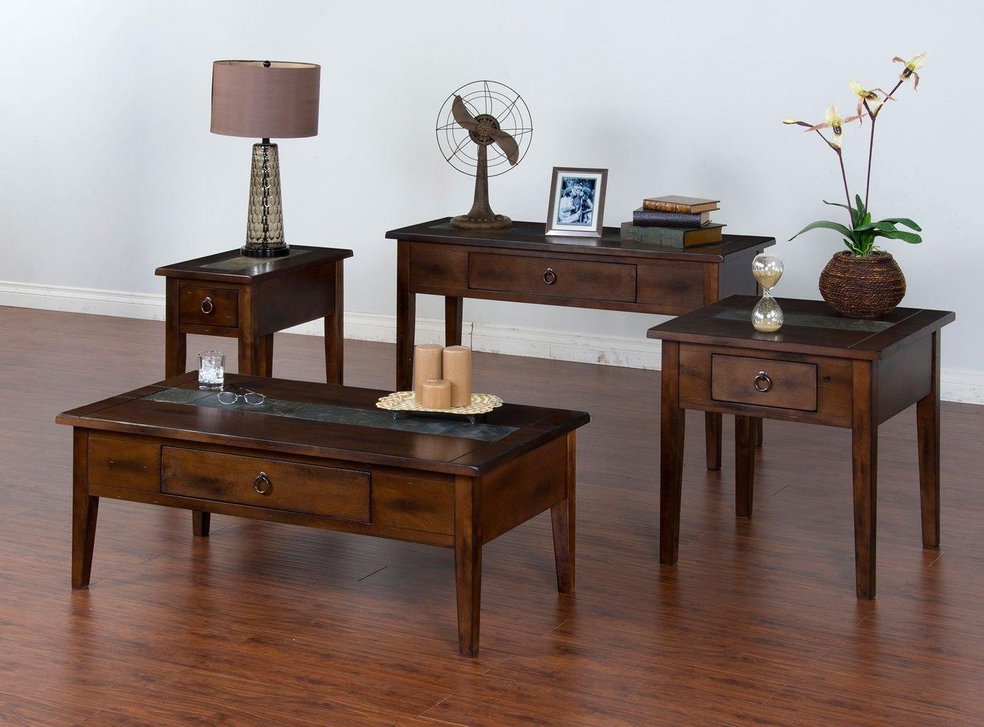 Santa Fe Leg Occasional Table Set By Sunny Designs