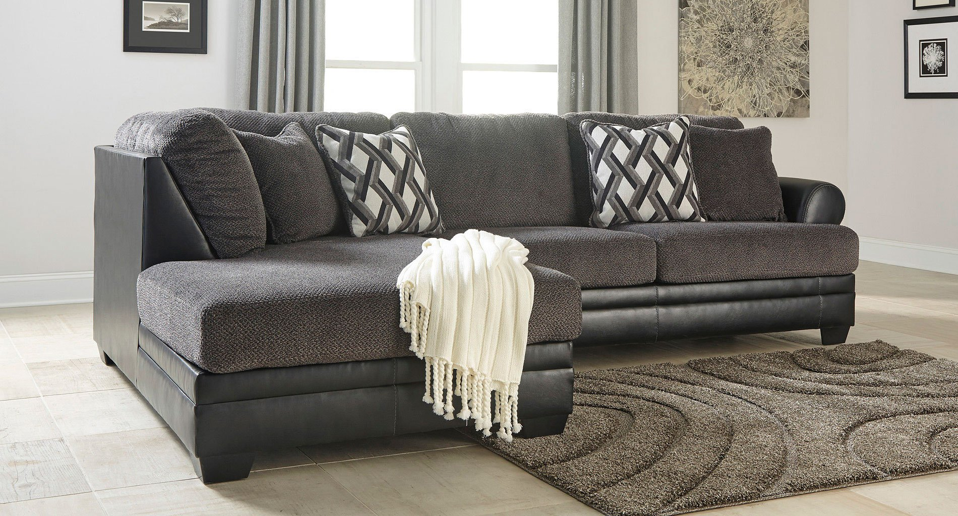 Kumasi Smoke Sectional Set