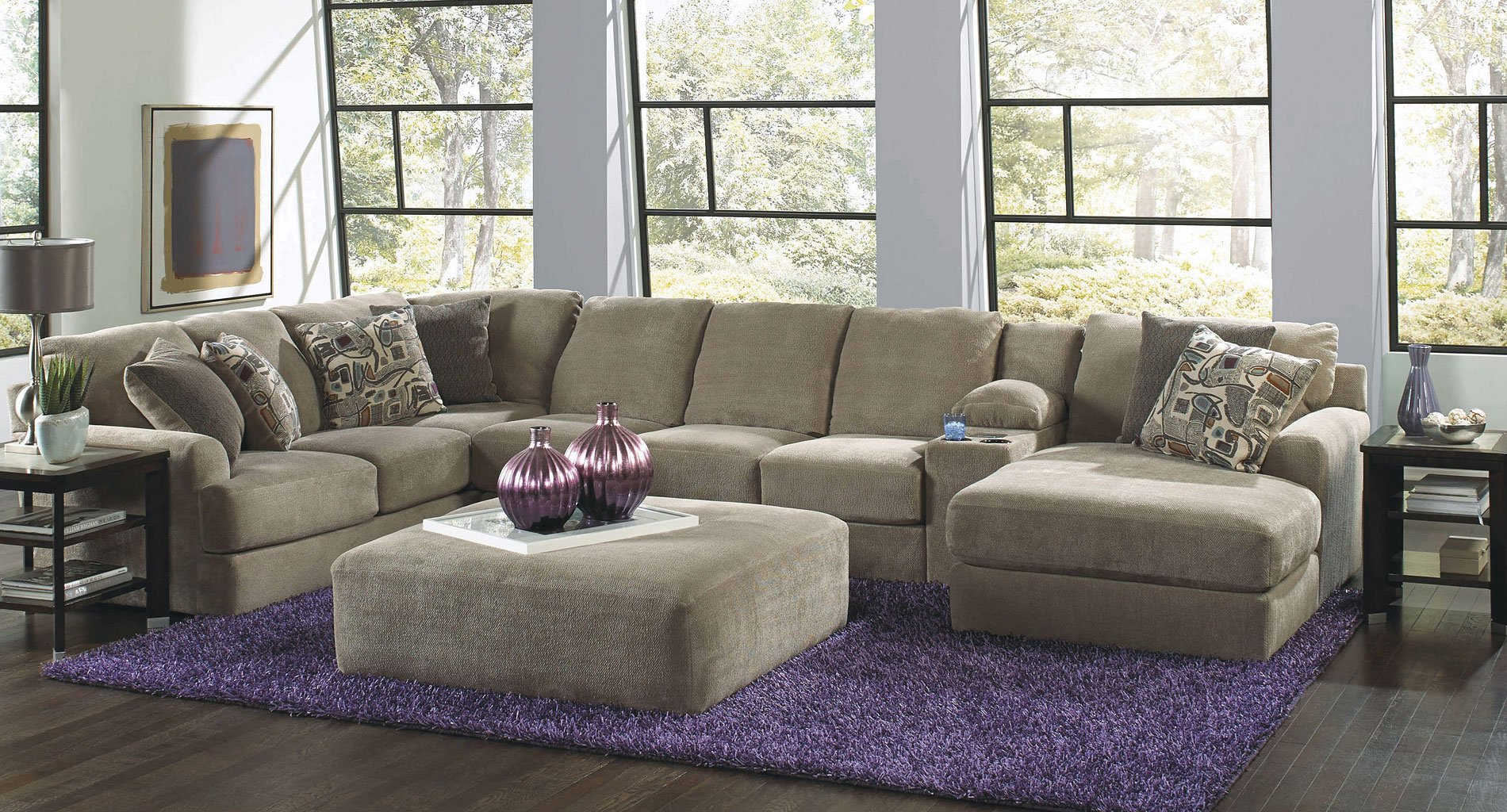 malibu modular sectional w chaise taupe living room furniture living. Black Bedroom Furniture Sets. Home Design Ideas