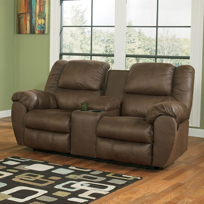 Quarterback Canyon Power Reclining Loveseat By Signature