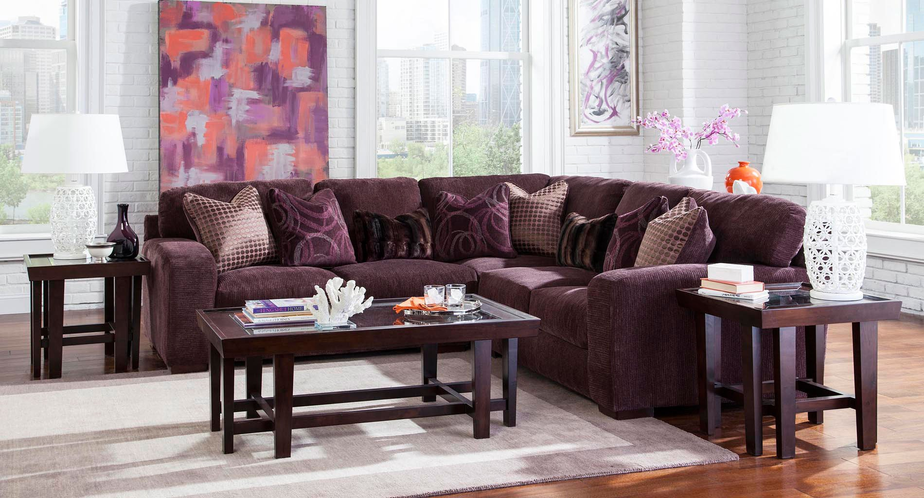 Serena Modular Sectional Set (Plum)