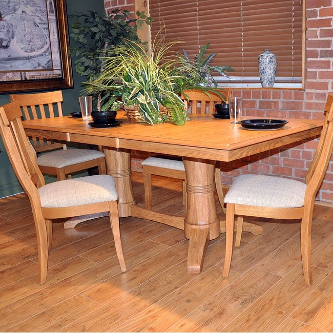 Light Laminate Double Pedestal Dining Table Dining Tables Dining Room And Kitchen Furniture