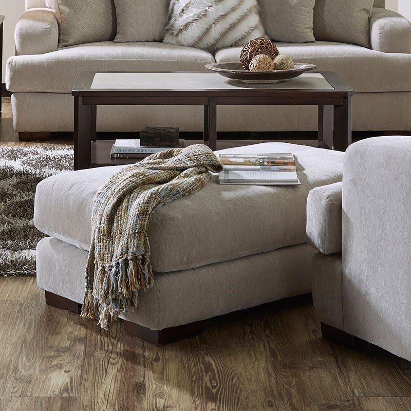 Gabrielle Living Room: Gabrielle Ottoman (Oyster) By Jackson Furniture