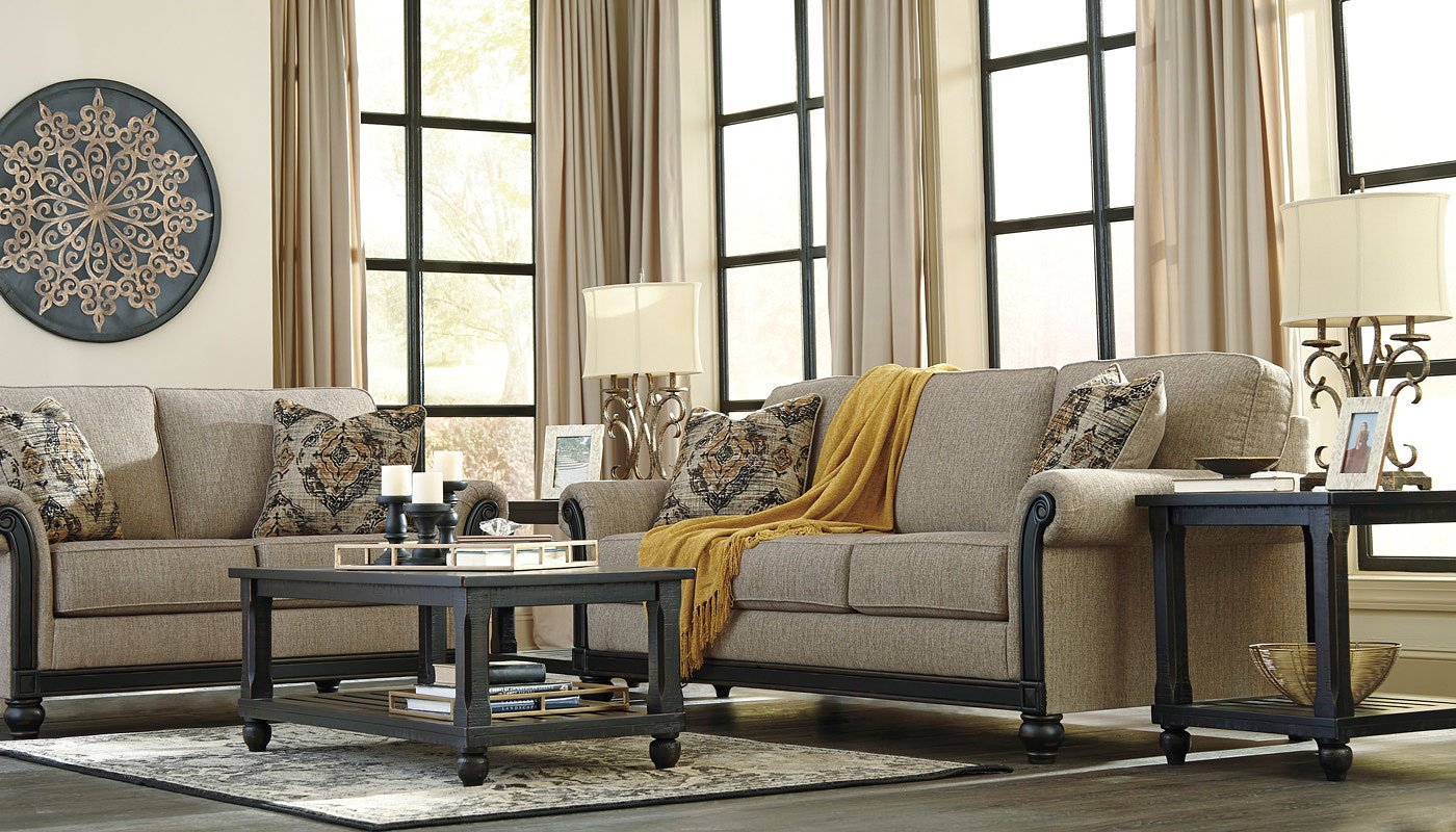 Blackwood Taupe Living Room Set By Signature Design By
