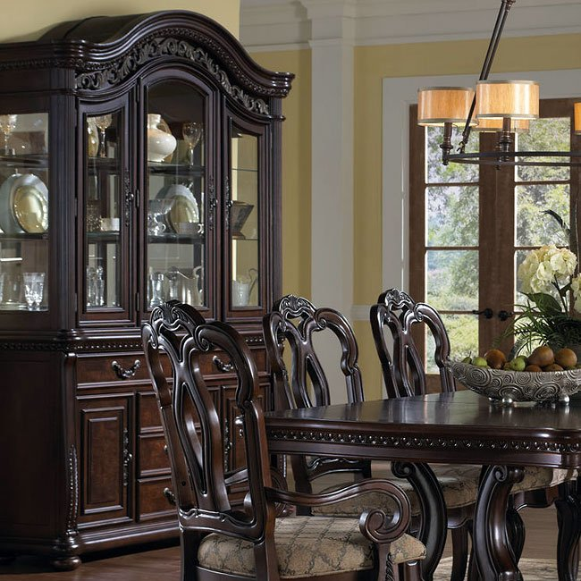 San marino buffet with hutch by samuel lawrence furniture - San marino bedroom set by samuel lawrence ...