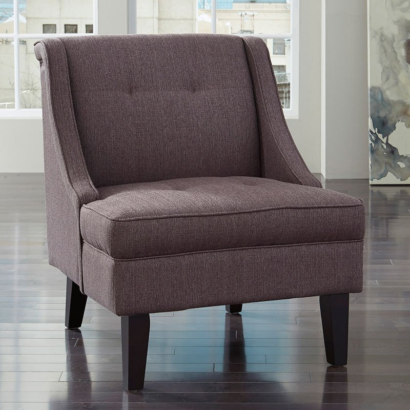 Clarinda Gray Accent Chair Accent Chairs Living Room