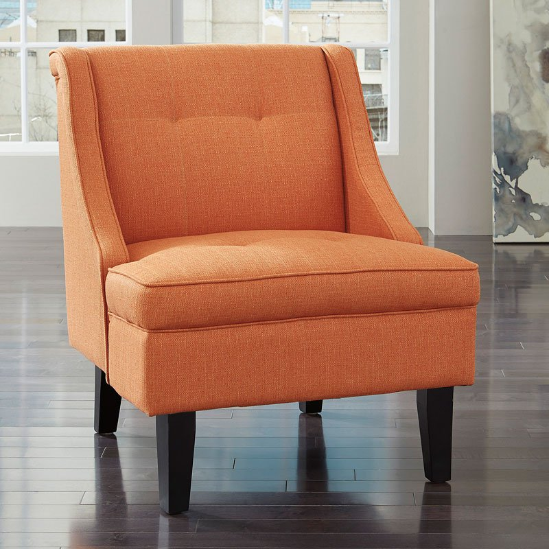 Clarinda Orange Accent Chair By Signature Design By Ashley