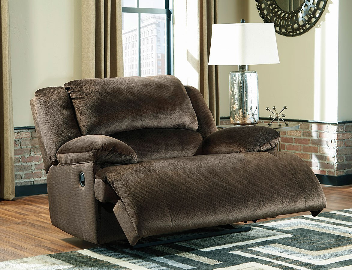 Clonmel Chocolate Zero Wall Power Wide Recliner By