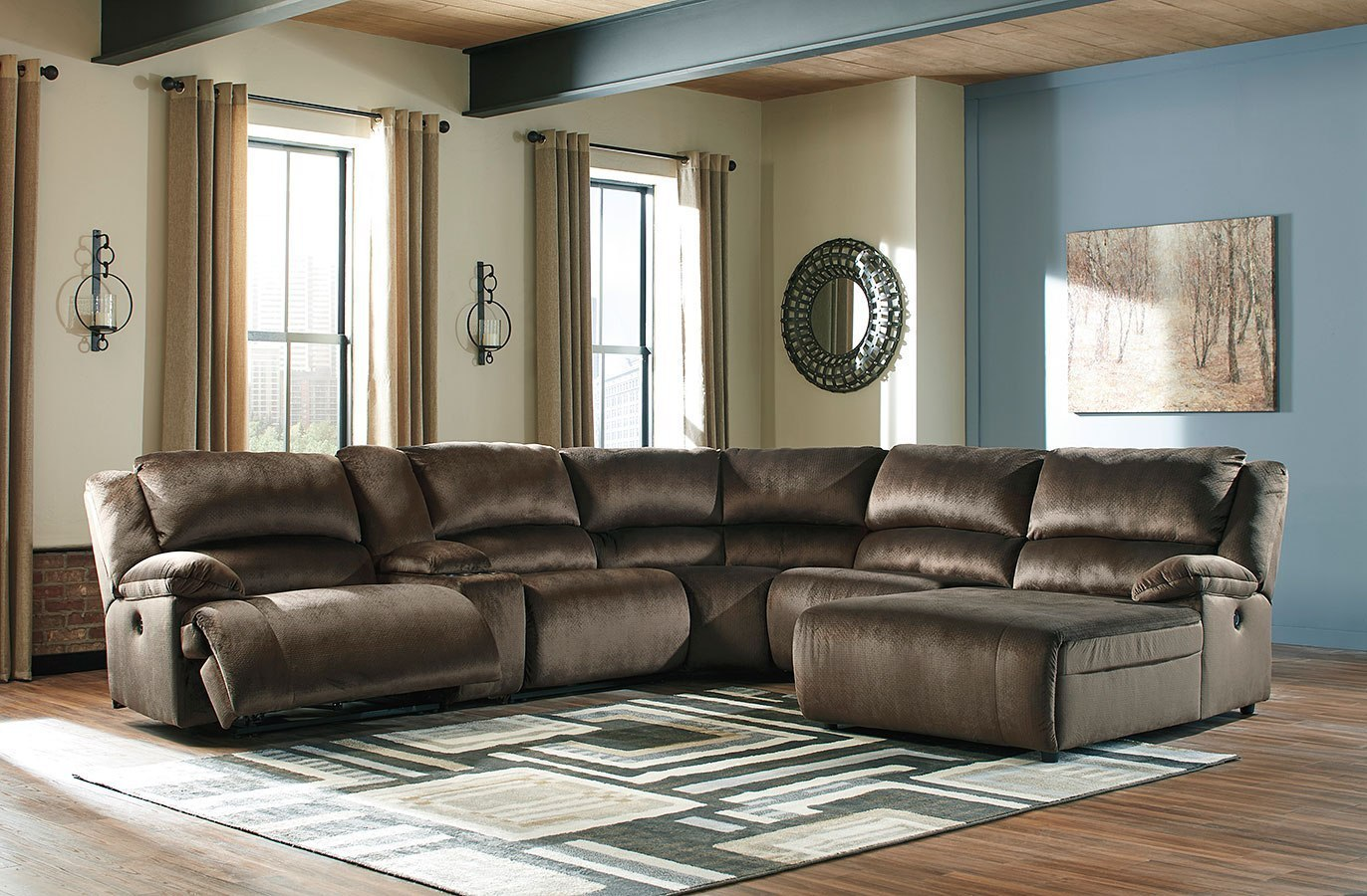 Pleasant Clonmel Chocolate Modular Power Reclining Sectional Gmtry Best Dining Table And Chair Ideas Images Gmtryco