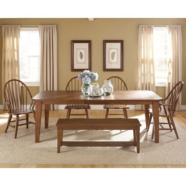 Hearthstone Dining Room Set W/ Windsor Chairs By Liberty