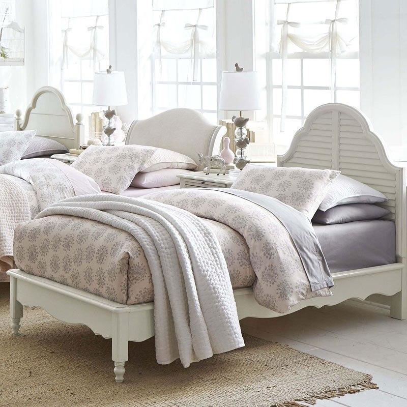 Inspirations Catalina Platform Bedroom Set (Mist Gray