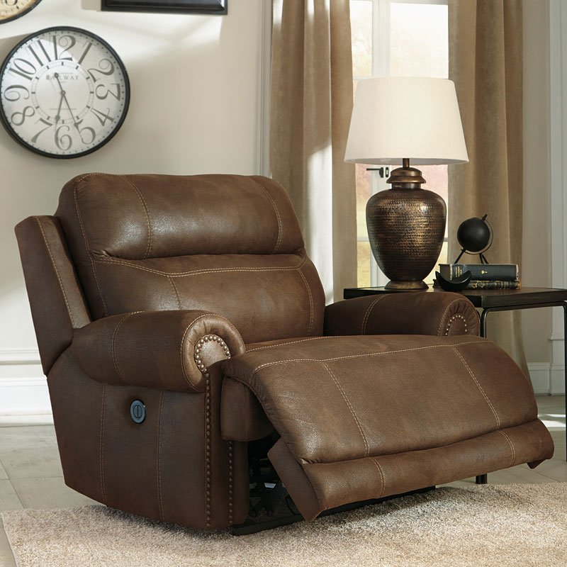 Austere Brown Zero Wall Wide Power Recliner By Signature