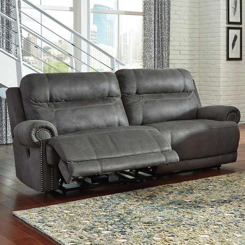 Austere Gray Power Reclining Sofa Reclining Sofas