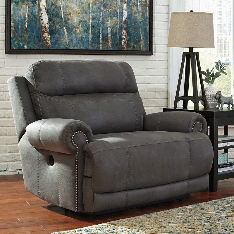 wide living room chair austere gray zero wall wide recliner recliners and 15212