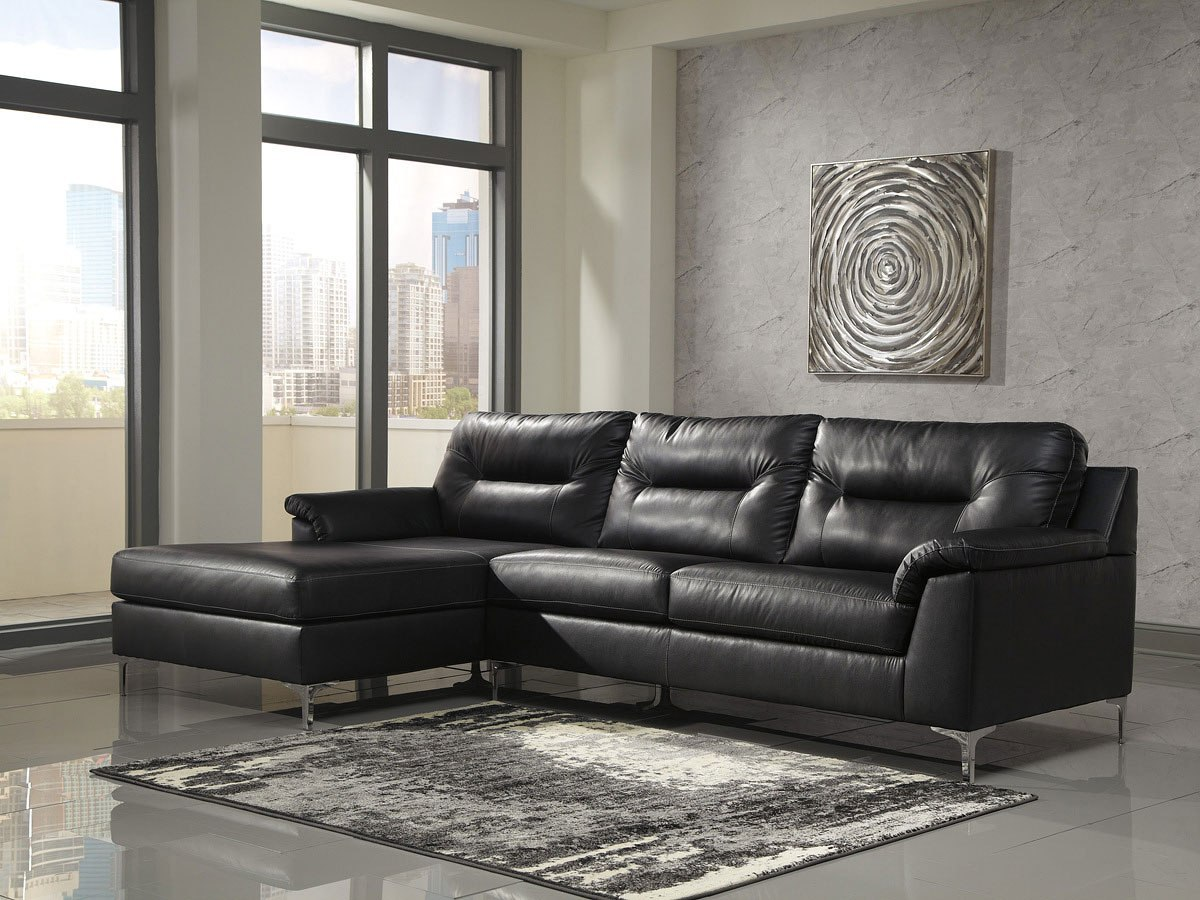 Tensas Black Left Chaise Sectional