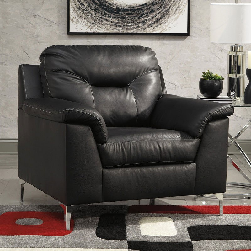 Black Living Room Furniture: Tensas Black Living Room Set By Signature Design By Ashley
