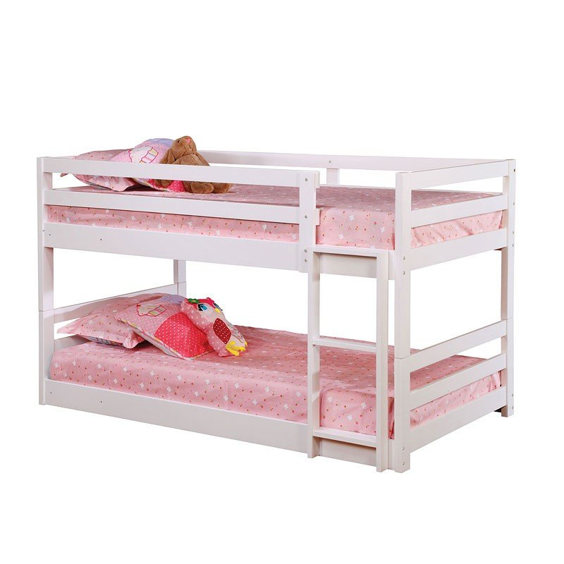 White Triple Twin Bunk Bed By Coaster Furniture 1 Reviews