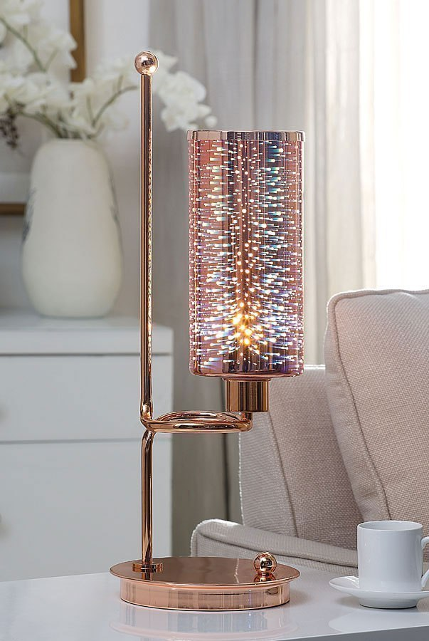 Gwen Table Lamp Rose Gold By Acme Furniture Furniturepick