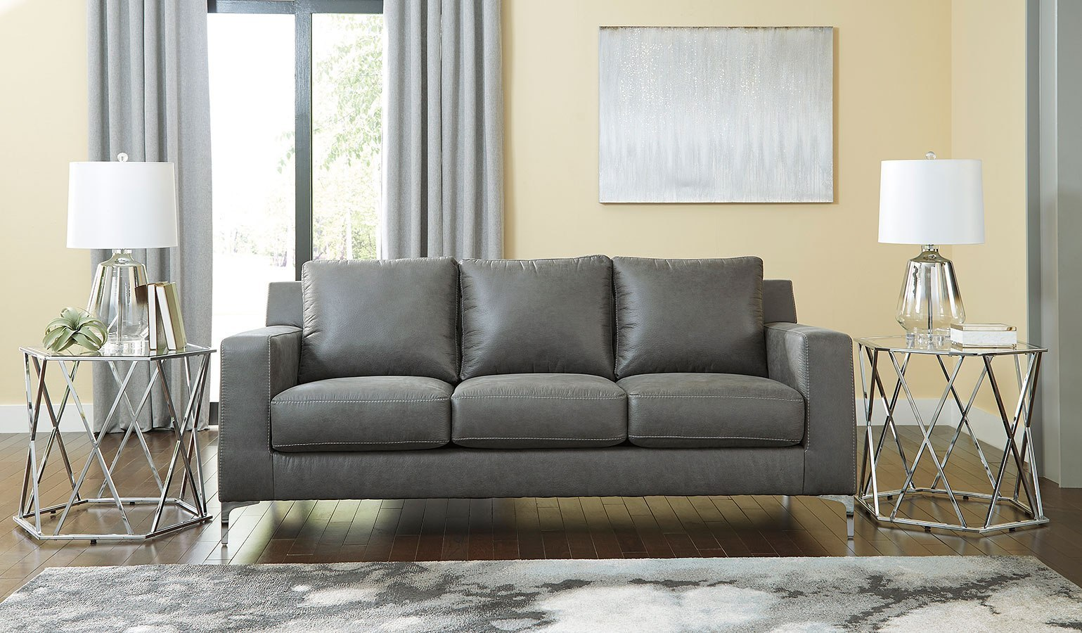 Ryler Charcoal Sofa By Signature Design By Ashley