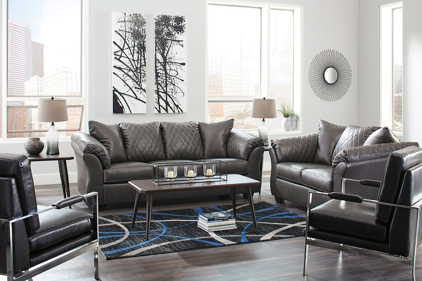 Betrillo Gray Living Room Set By Signature Design By
