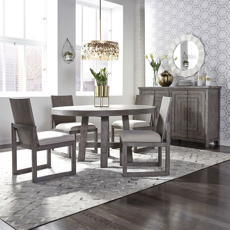 Contemporary Round Dining Room Sets: Modern Farmhouse Round Dining Room Set By Liberty