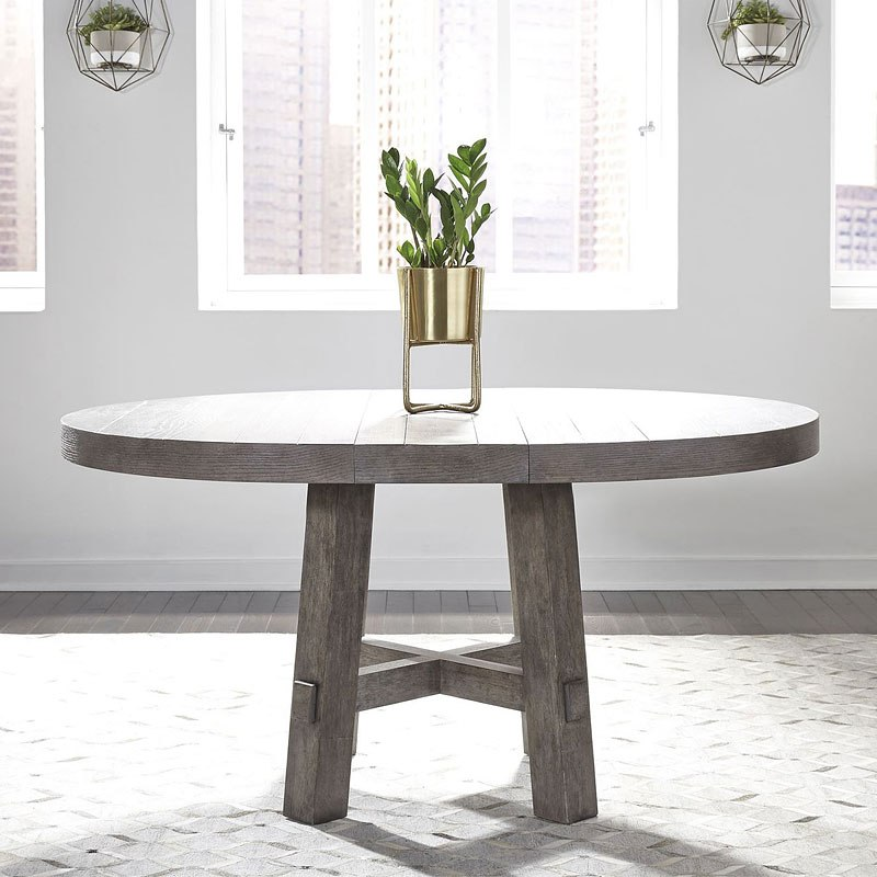Farmhouse Round Dining Room Table