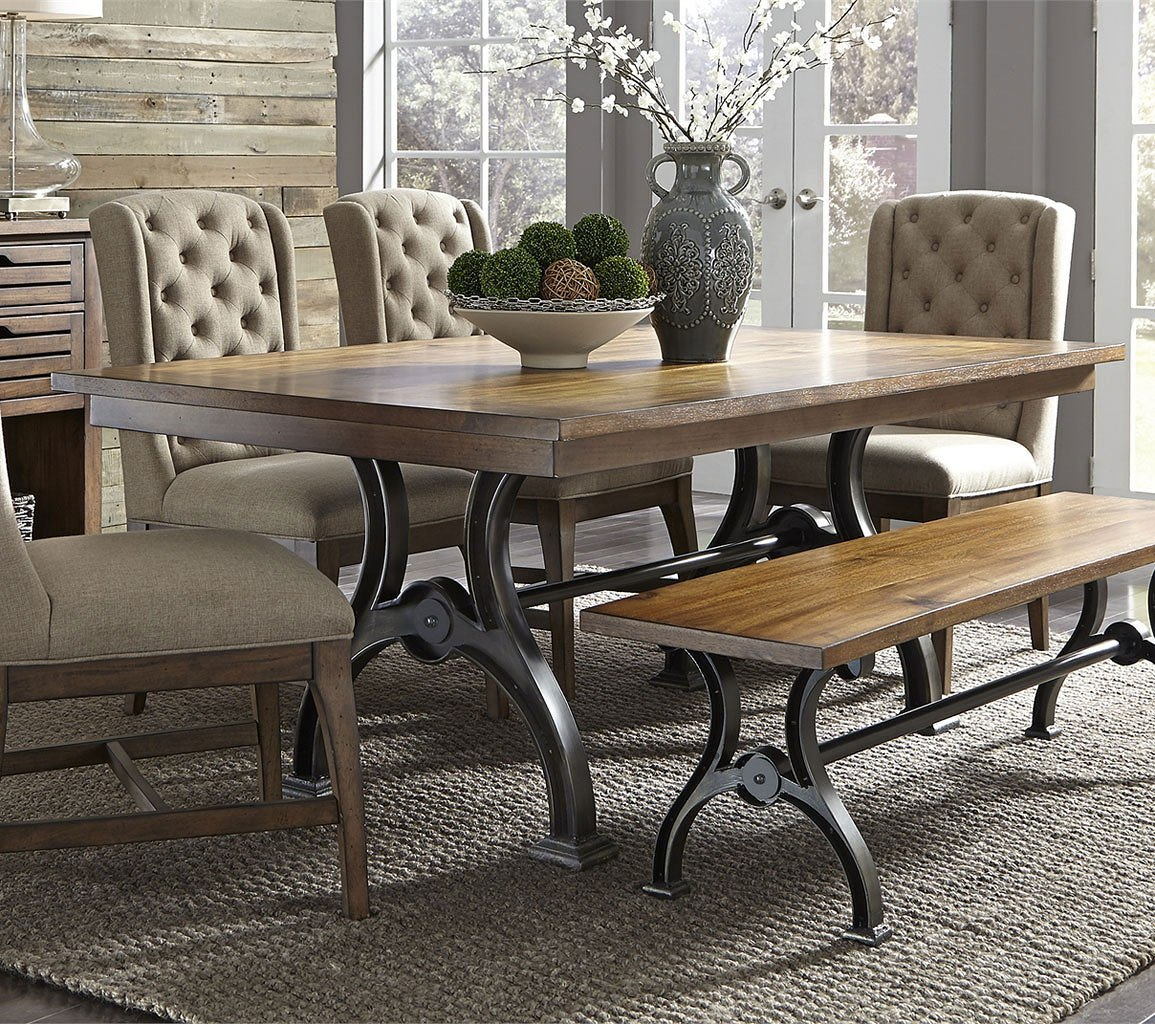 Superb Arlington House Rectangular Dining Set W Bench Caraccident5 Cool Chair Designs And Ideas Caraccident5Info