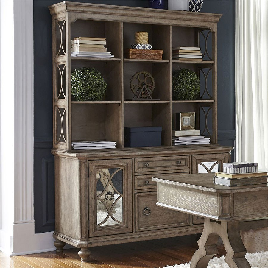 Simply Elegant Credenza W/ Hutch By Liberty Furniture