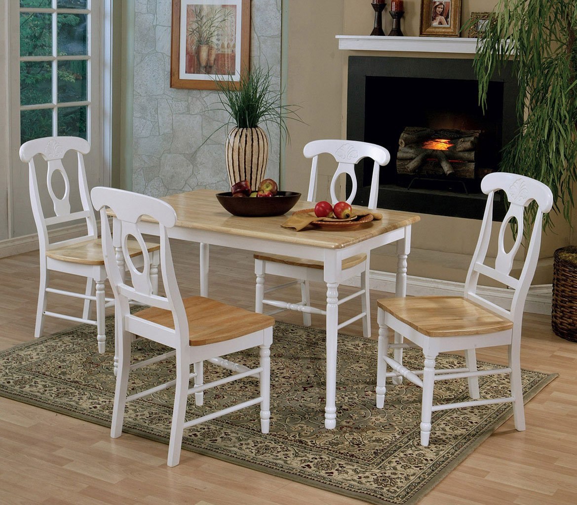Casual Dining Room Sets: Damen Rectangular Dining Room Set W/ Napoleon Chairs