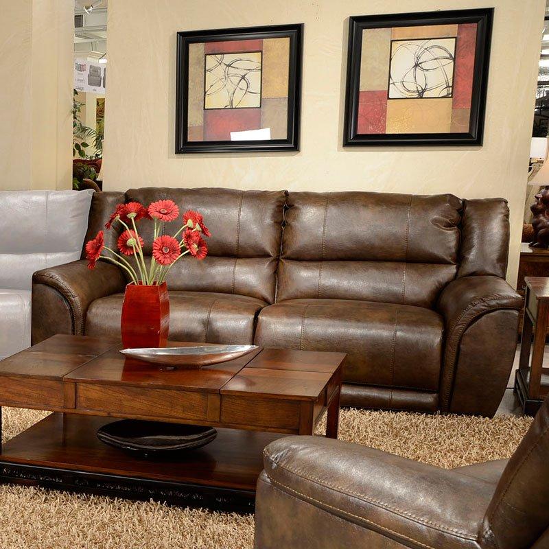 Carmine Lay Flat Reclining Sofa (Timber) by Catnapper | FurniturePick