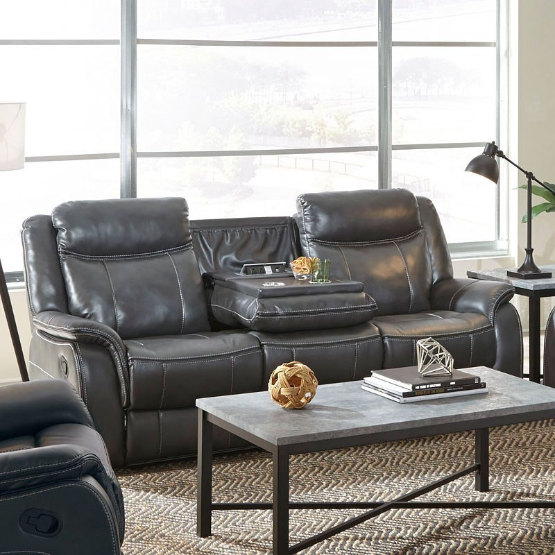 Avalon Power Reclining Sofa W Drop Down Center By Standard