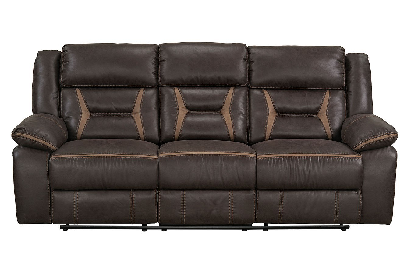 Acropolis Reclining Sofa W Drop Down Table Chocolate By