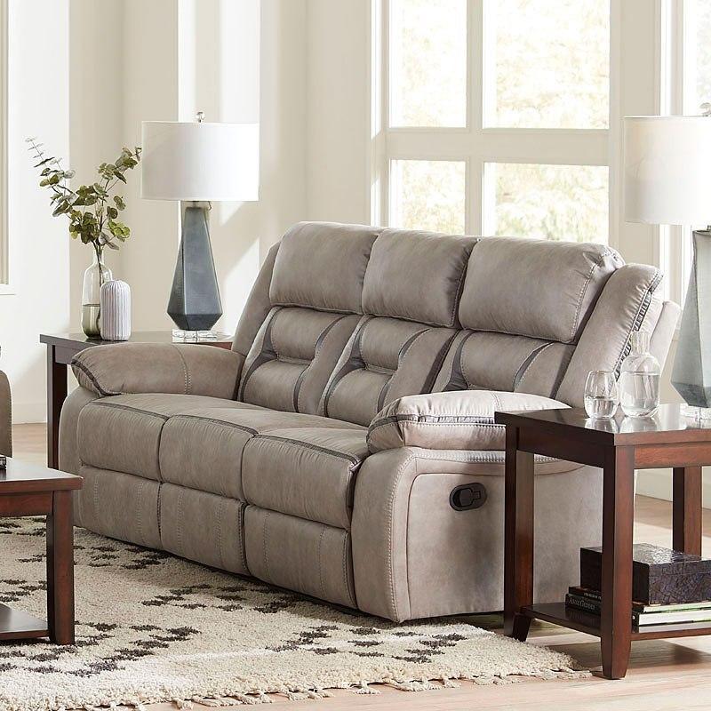 Acropolis Reclining Sofa W Drop Down Center By Standard