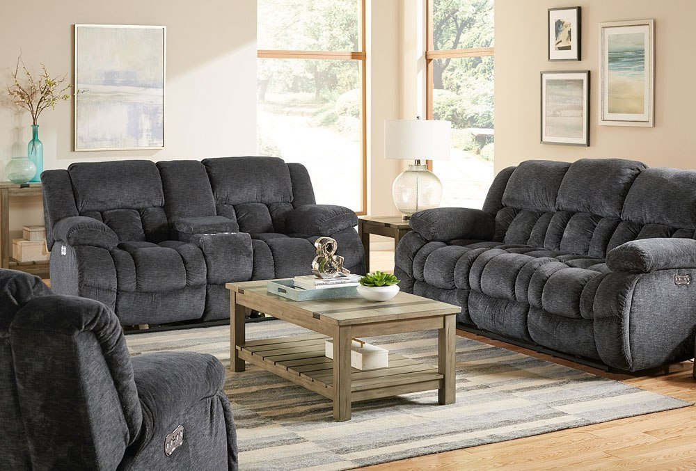 Seymore Reclining Living Room Set (Charcoal) by Standard Furniture ...