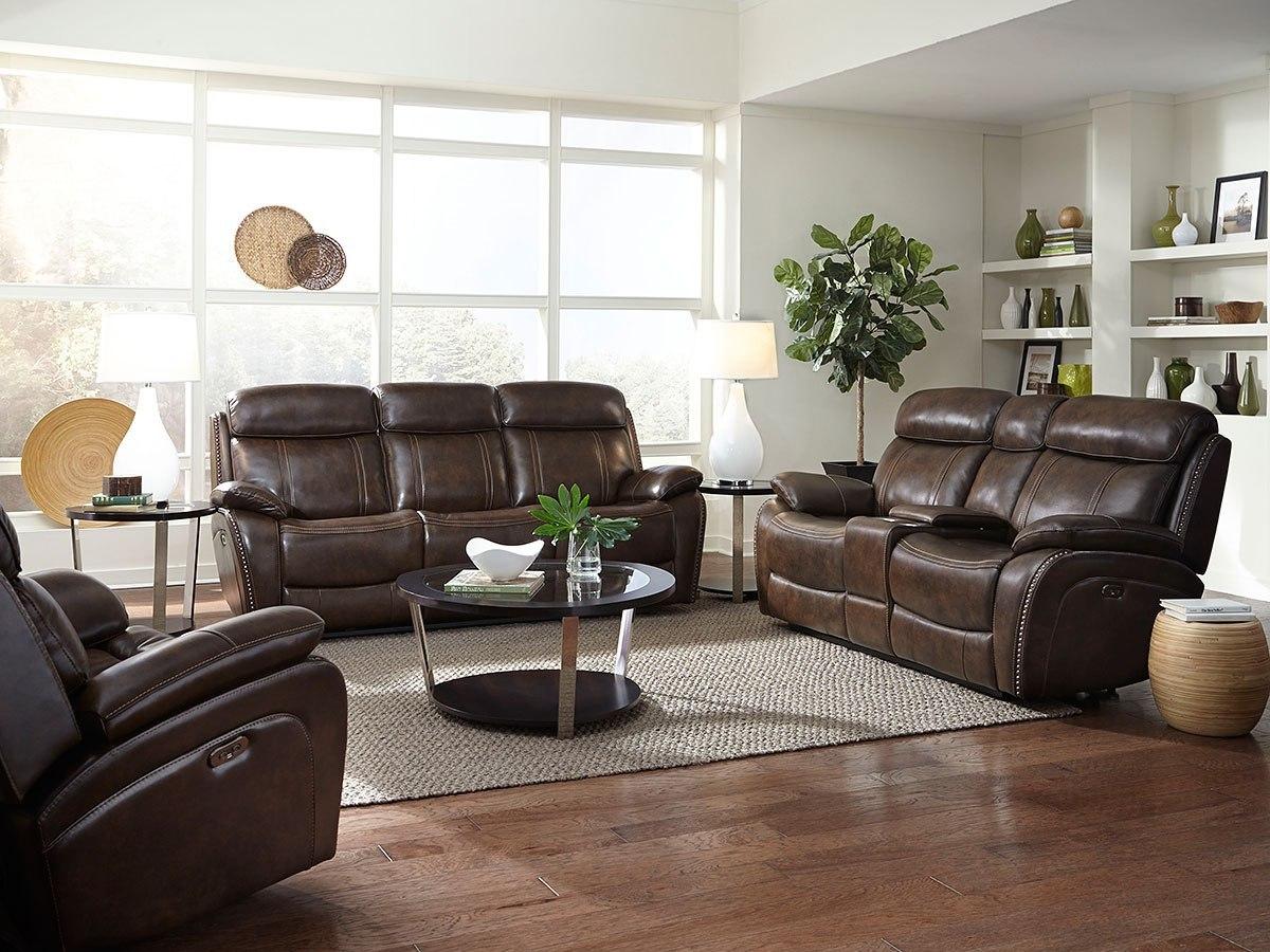 Edmond power reclining living room set by standard - Living room recliner furniture sets ...