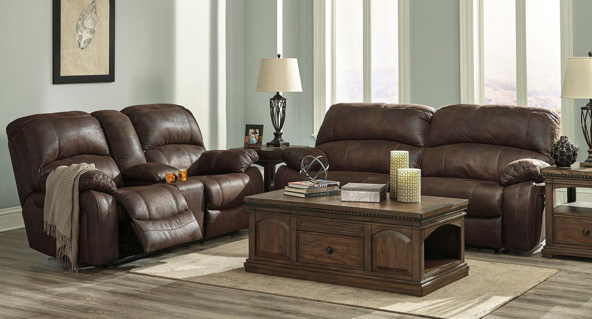 Zavier Truffle Power Reclining Living Room Set Living